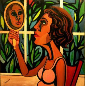 American People Series 16 - Woman Looking in a Mirror, 1966